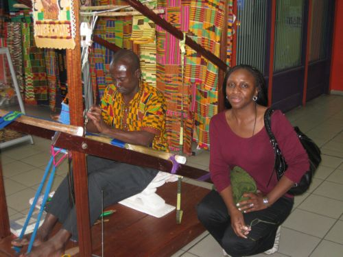 Kente Cloth Weaver Ghana Airport
