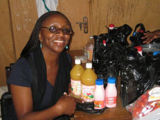 Funmi buying Juice and Yogurt
